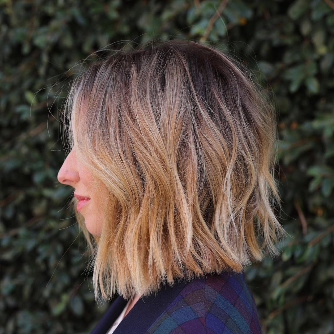 Shoulder-Length Layers Inverted Haircut