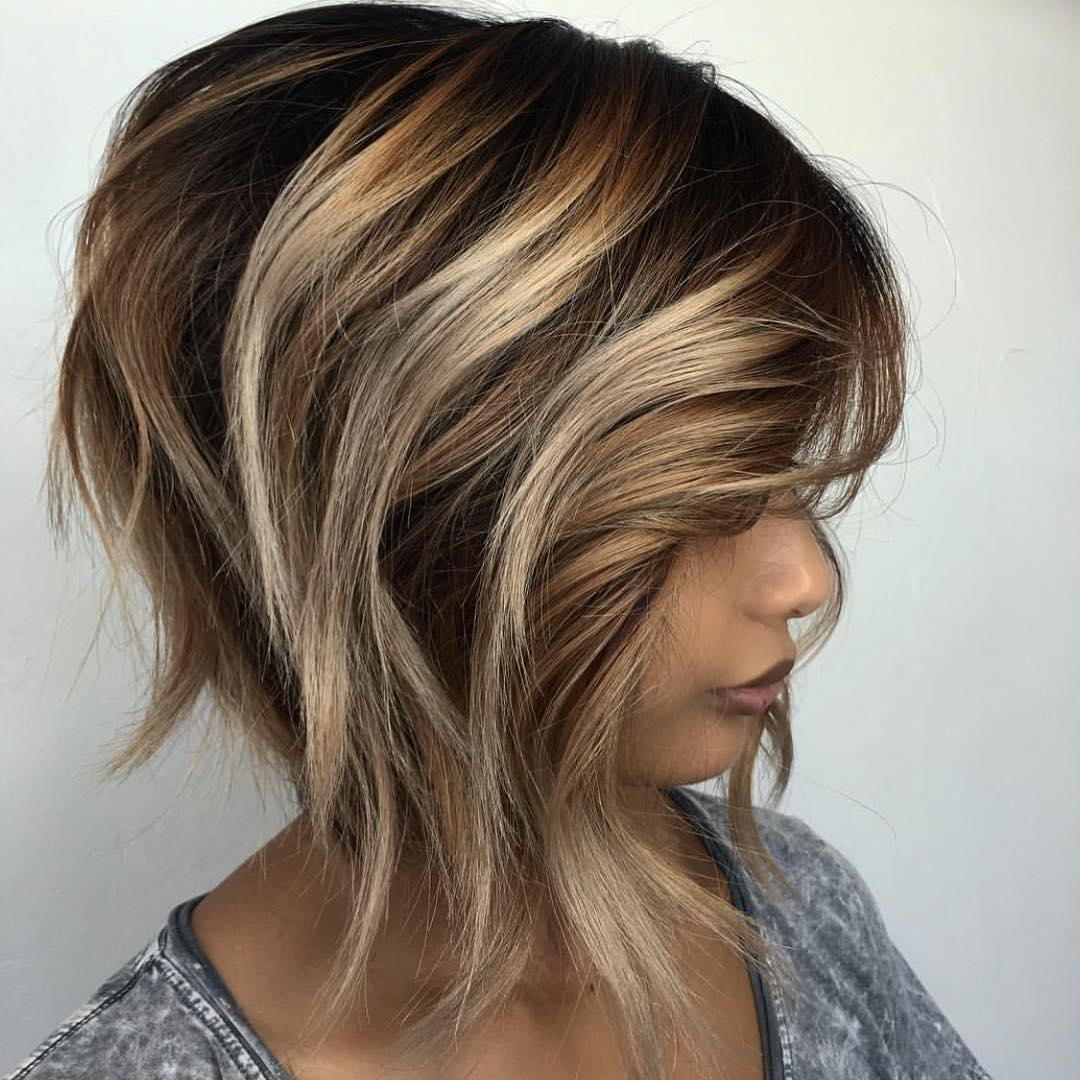Textured Bob with Bronde Balayage