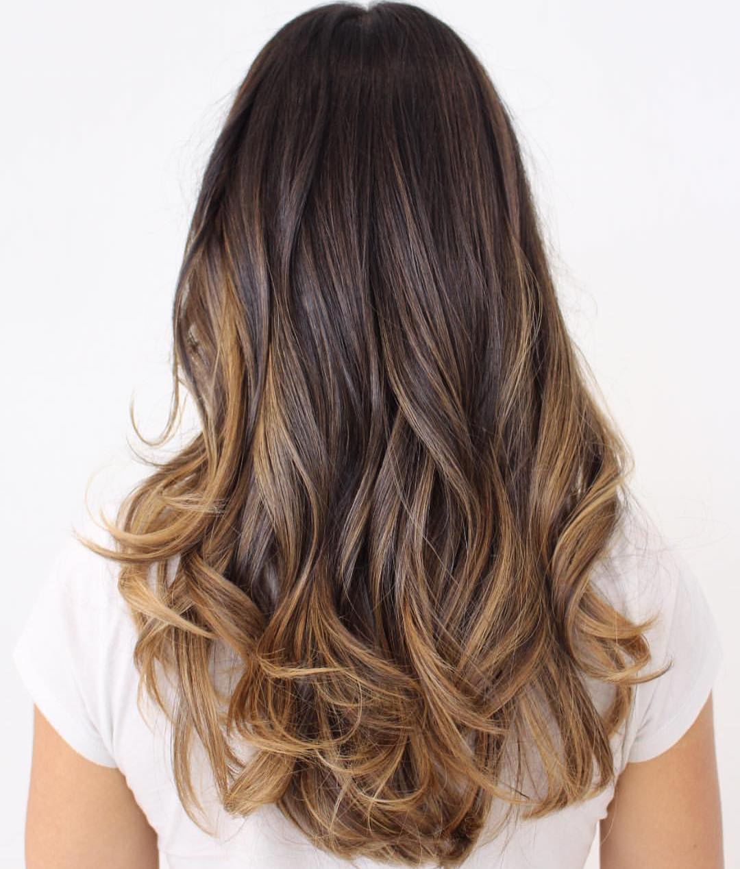 Dark Chocolate to Caramel Ombre Hair