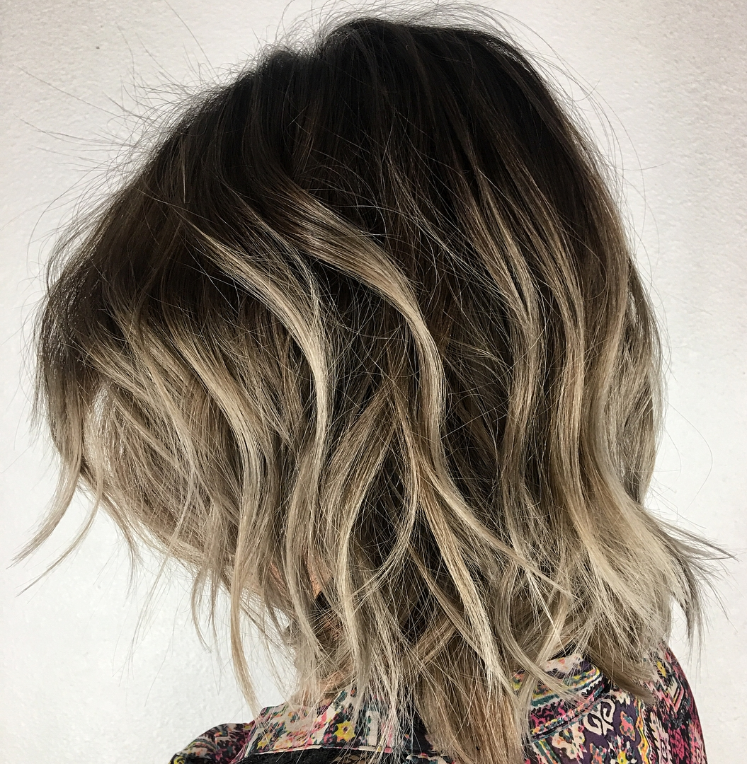 Messy Bob with Shadow Roots