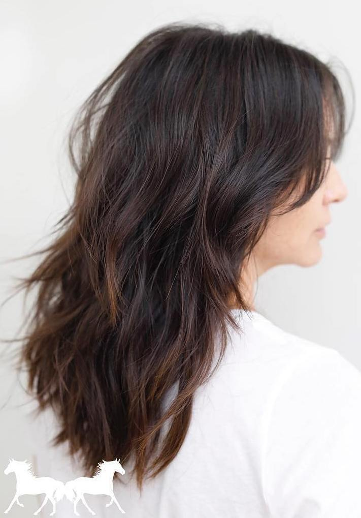 Long Layered Haircut for Brown Hair