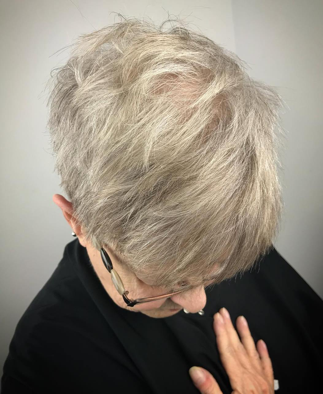 Short Textured Pixie for Thinning Hair