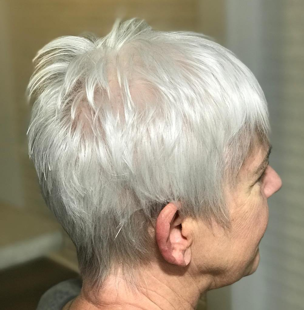 White Pixie for Fine Hair