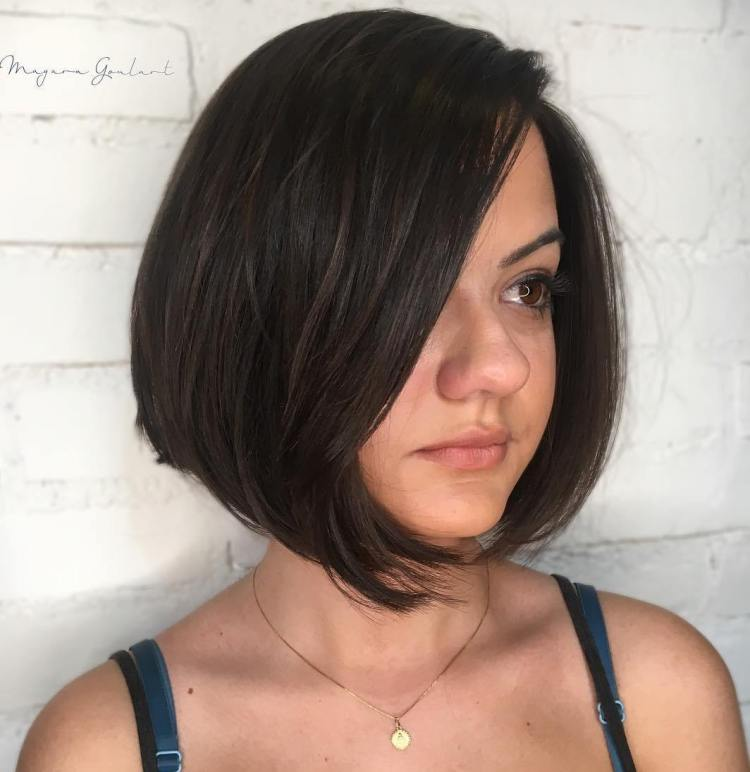 Straight Bob Hairstyle for a Big Nose