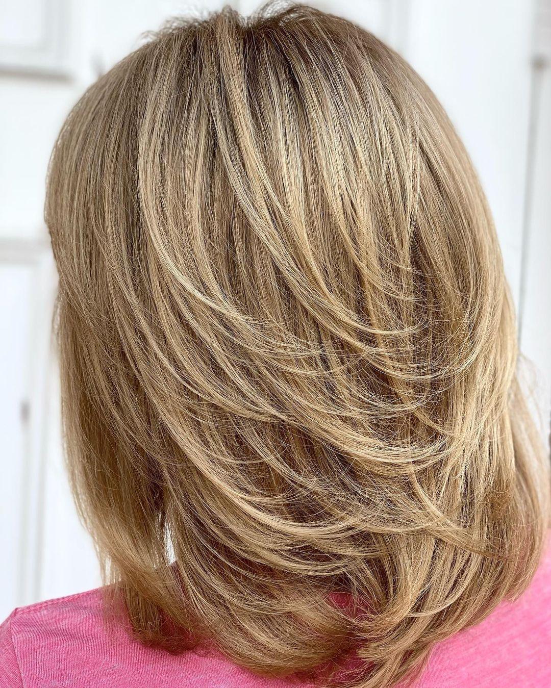 Feathered Mid-Length Hair