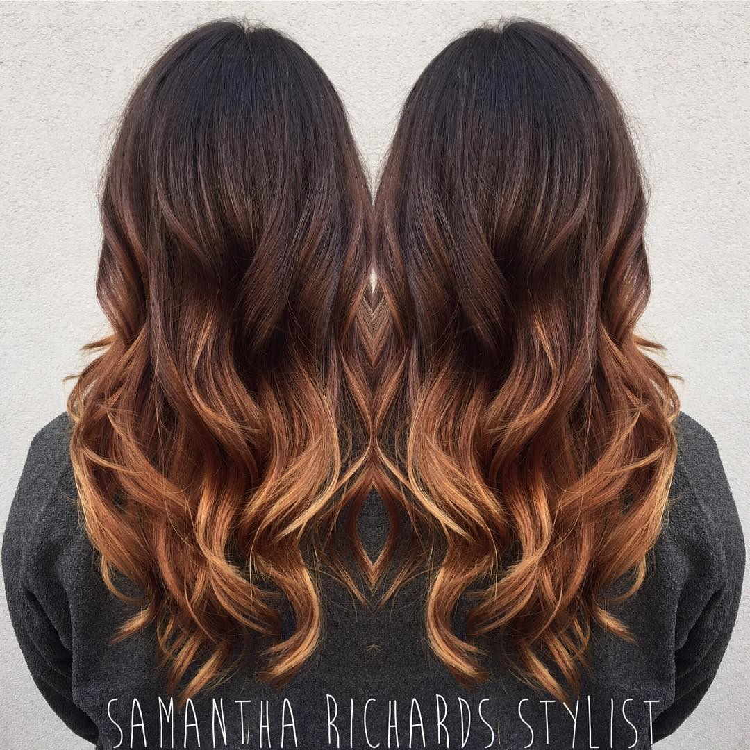 Chocolate to Cinnamon Ombre Hair