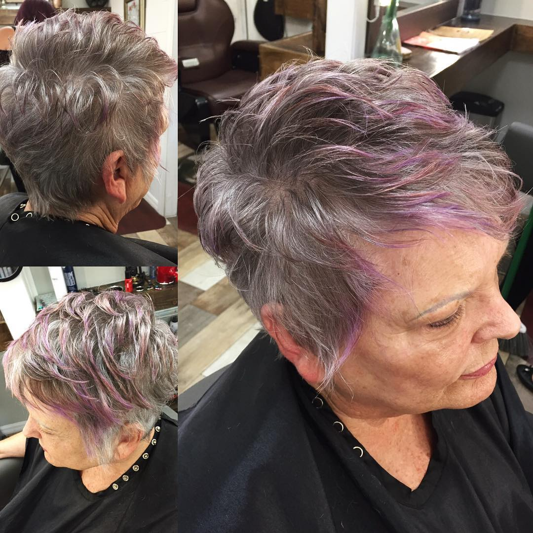 70+ Lavender Highlights for Gray Pixie