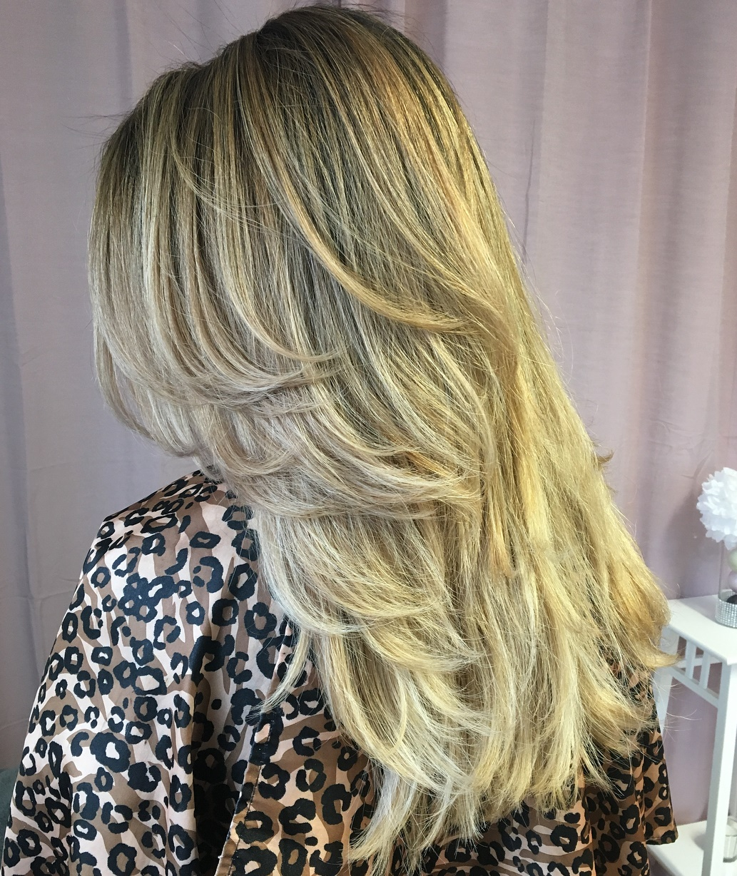 Feathered Haircut for Long Thick Hair