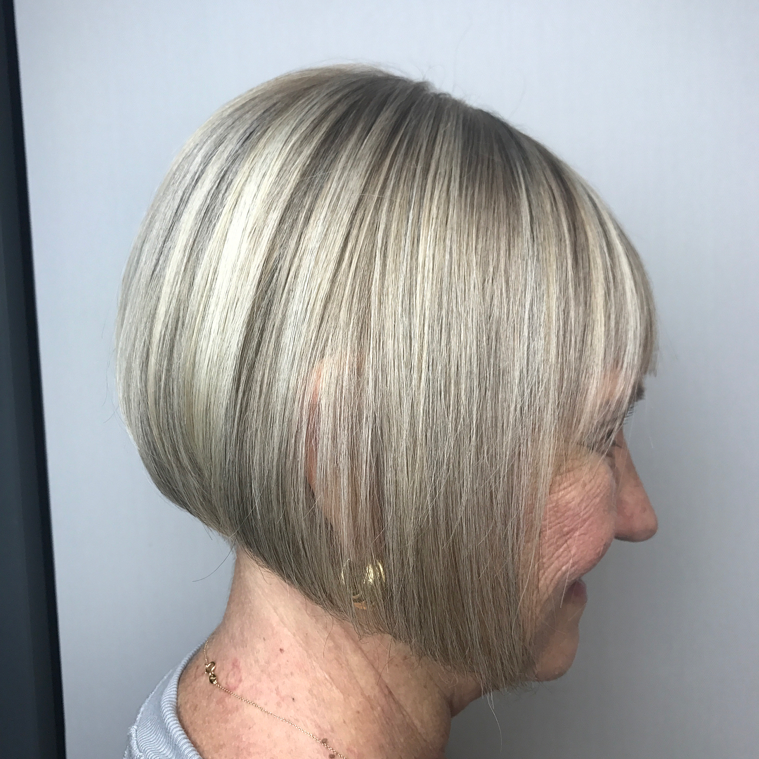 Ash Blonde Inverted Blunt Bob