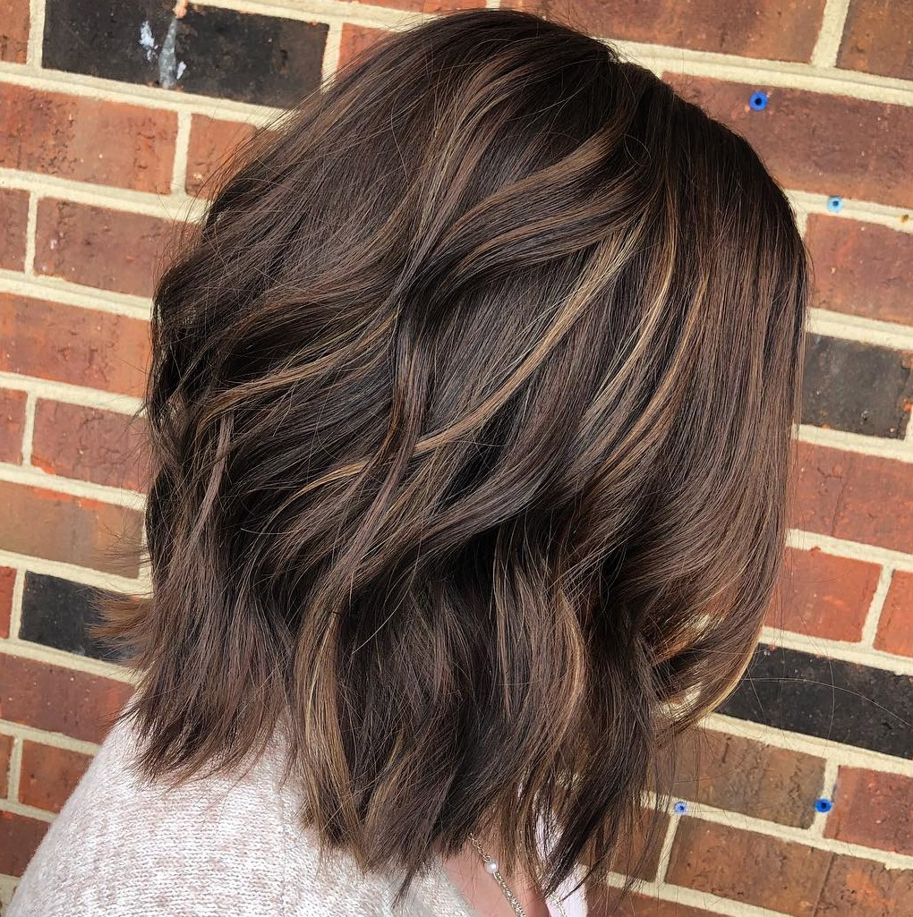 Medium Chocolate Bob with Subtle Highlights