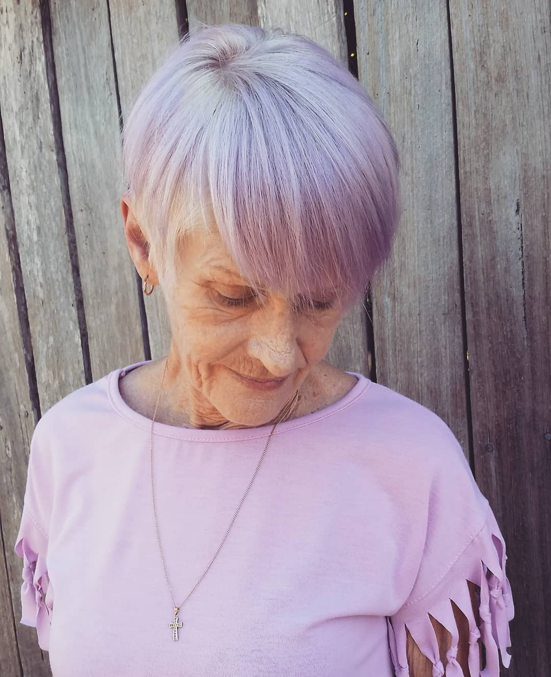 Short Fresh Pastel Purple Hairstyle