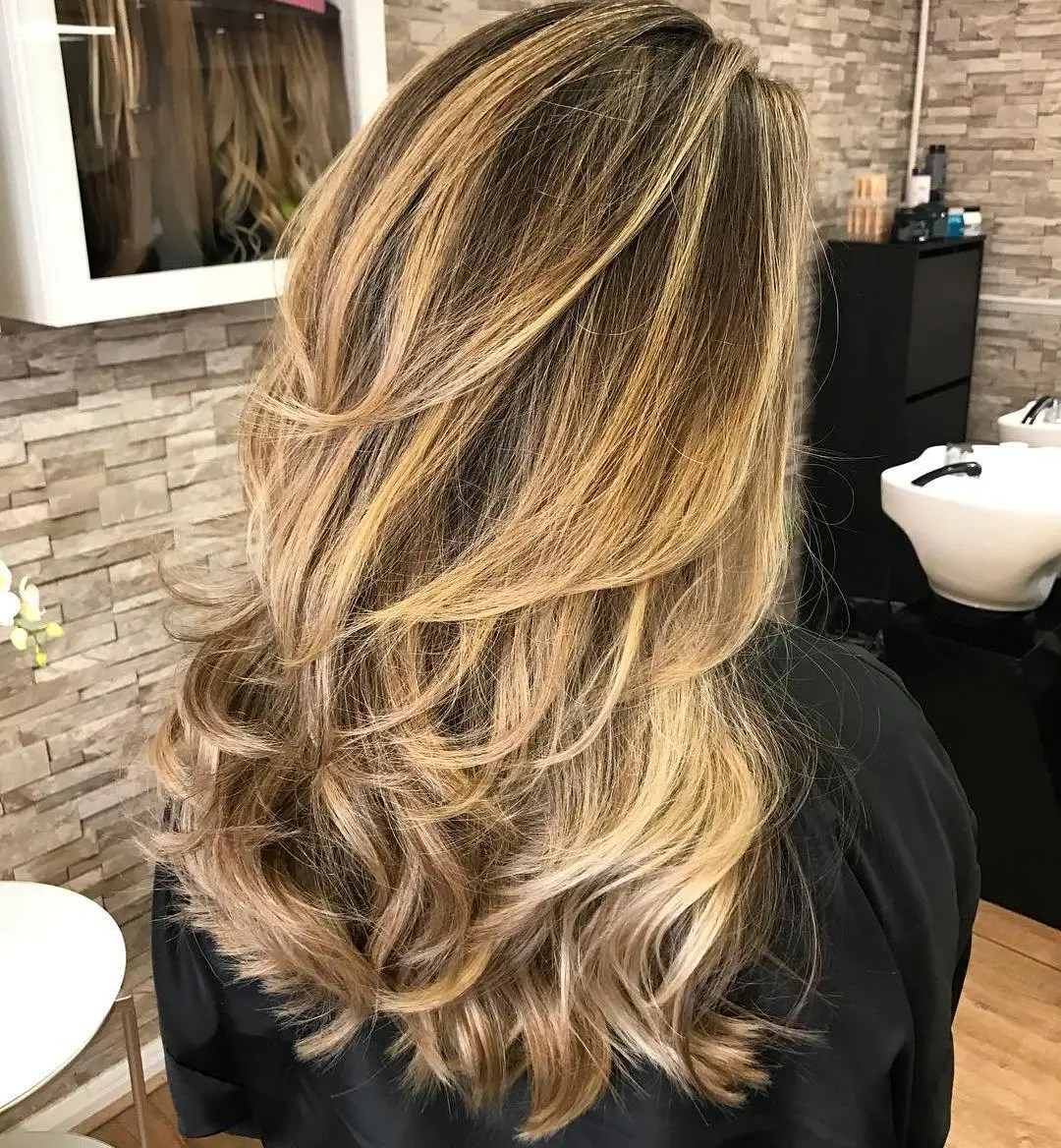 Curled Hairstyle for Long Thin Hair