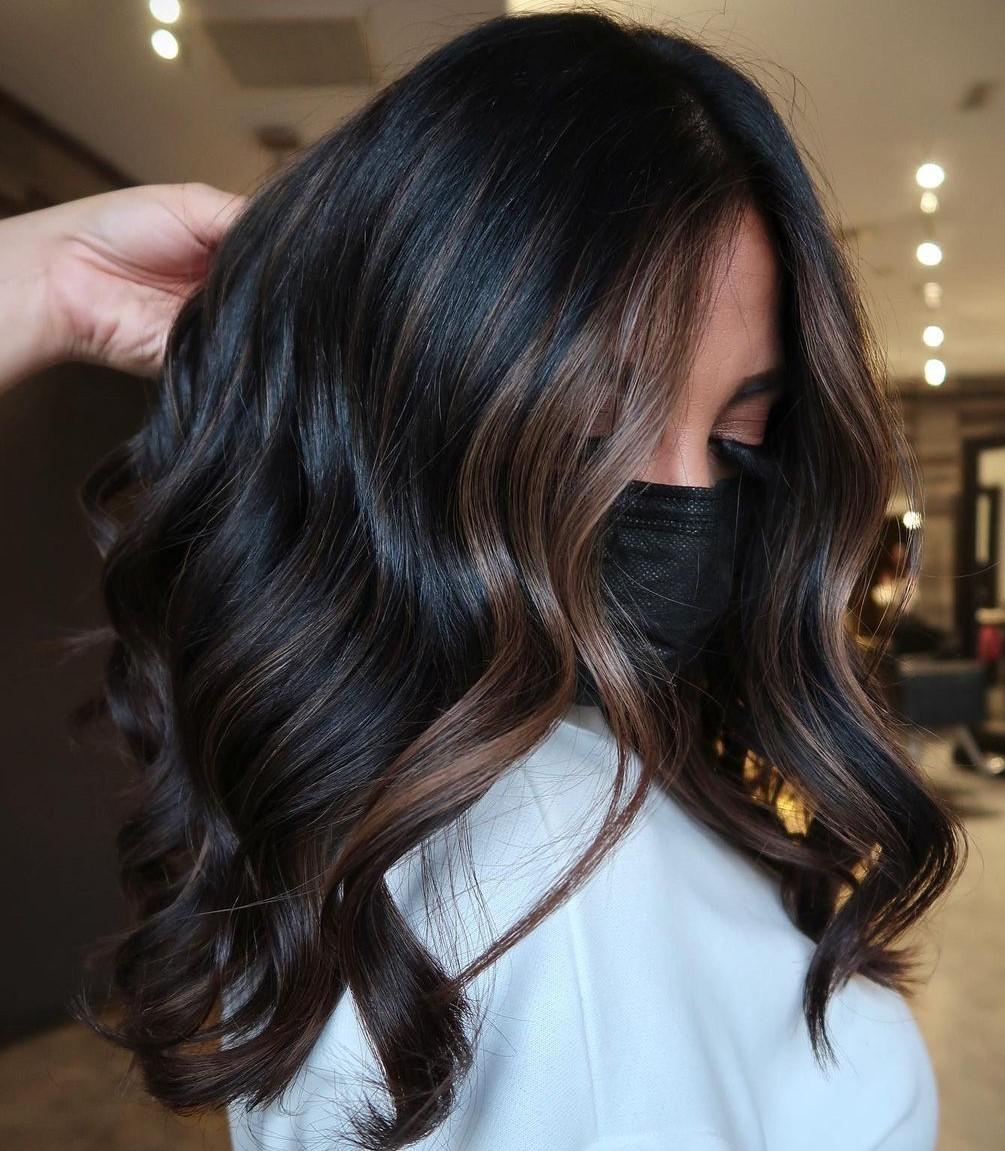 Dark Hair with Brown Highlights