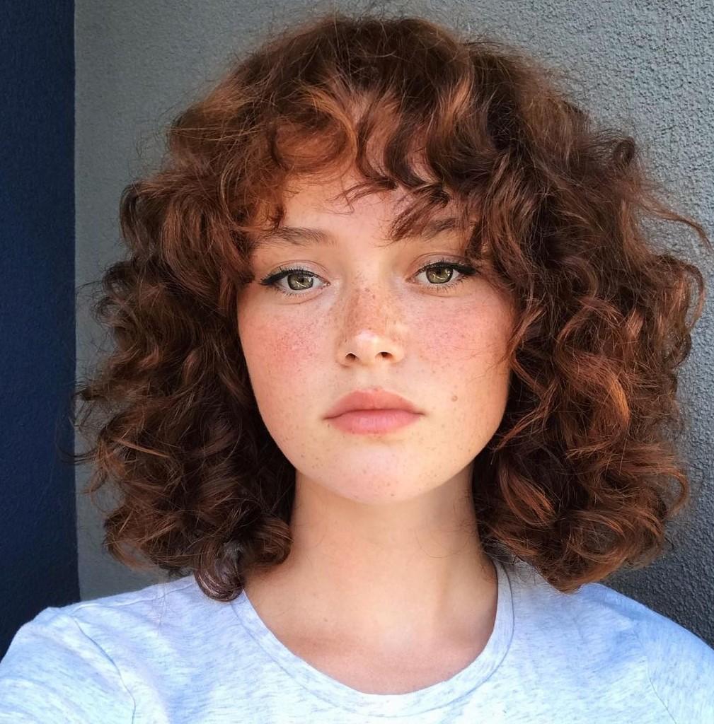 Fun Medium-Length Curly Hair