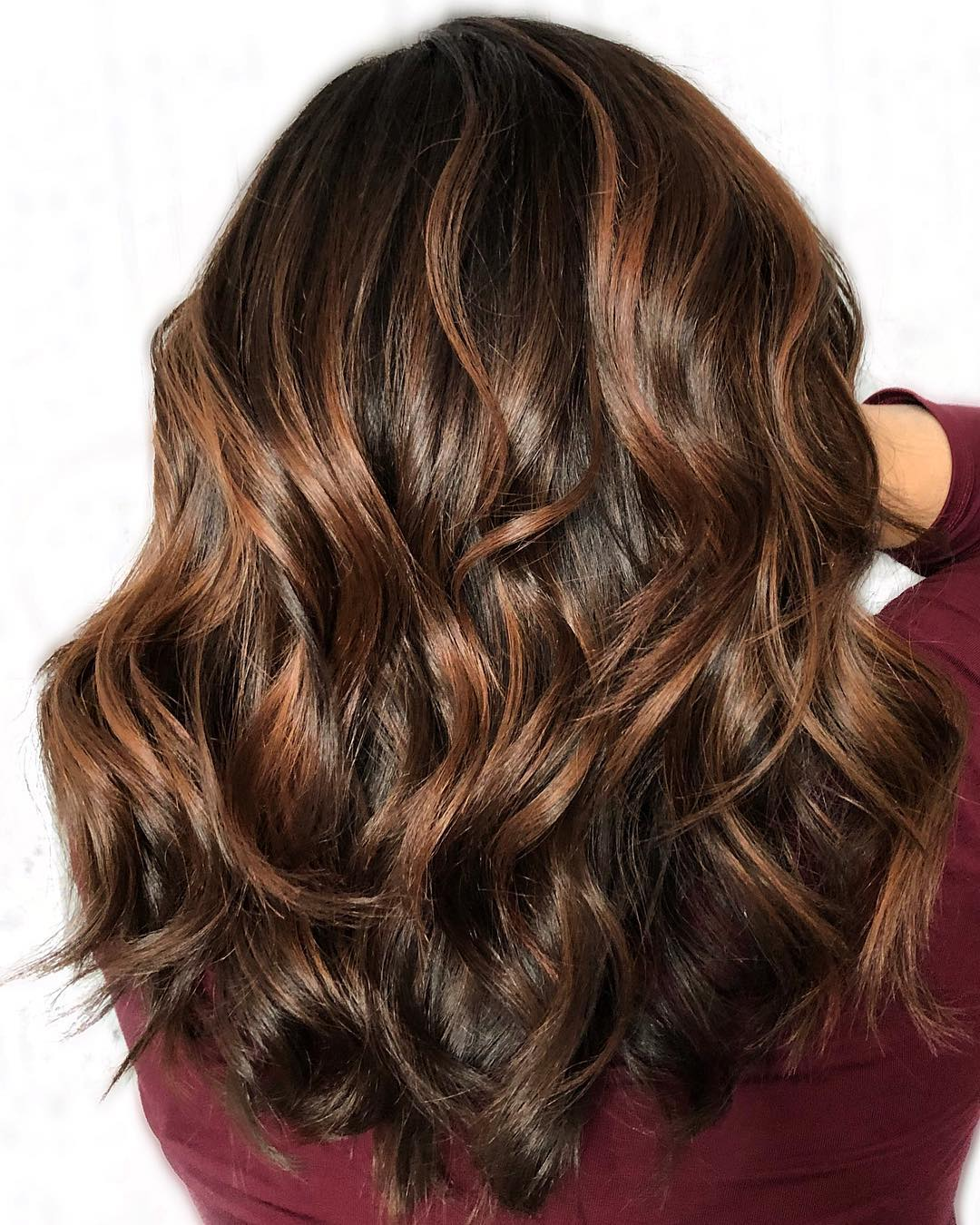 Dark Brown with Auburn Streaks