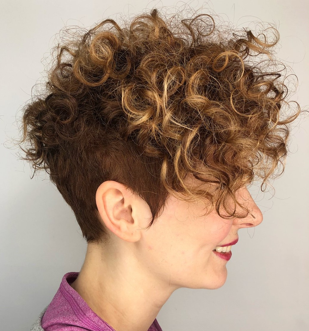 Curly Messy Pixie Undercut
