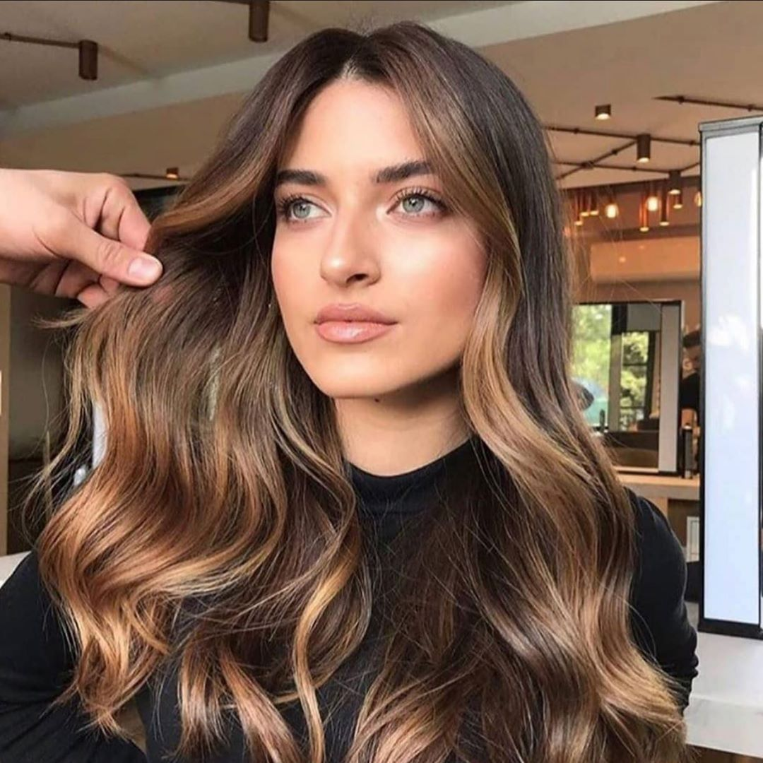 Cozy Fall Balayage with Lowlights