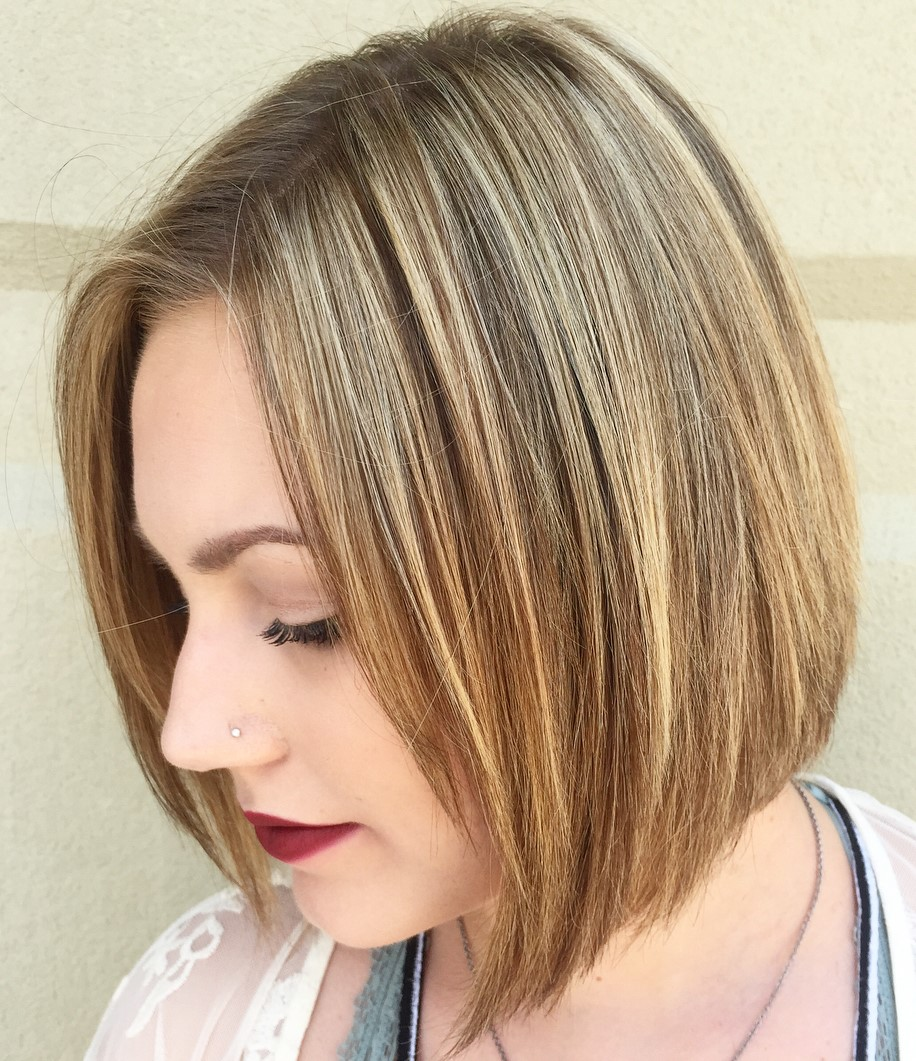 Bronde Bob with Side Bangs