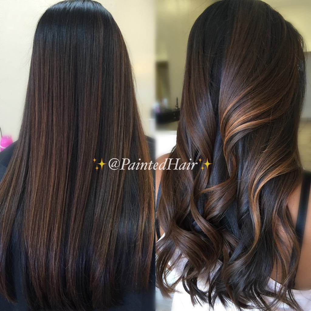 Fall Dark Brown Hair with Highlights