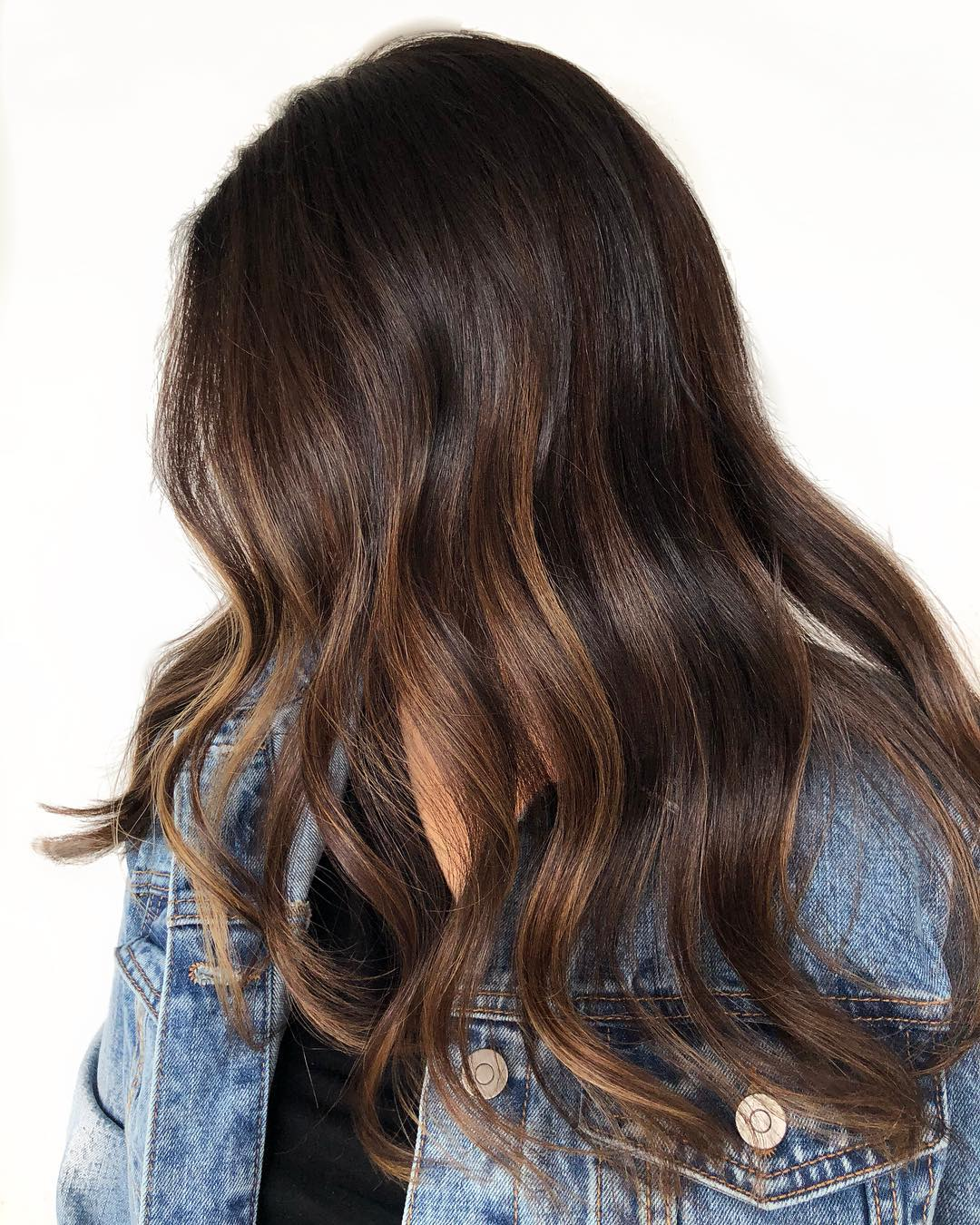Ombre Balayage Highlights on Dark Hair