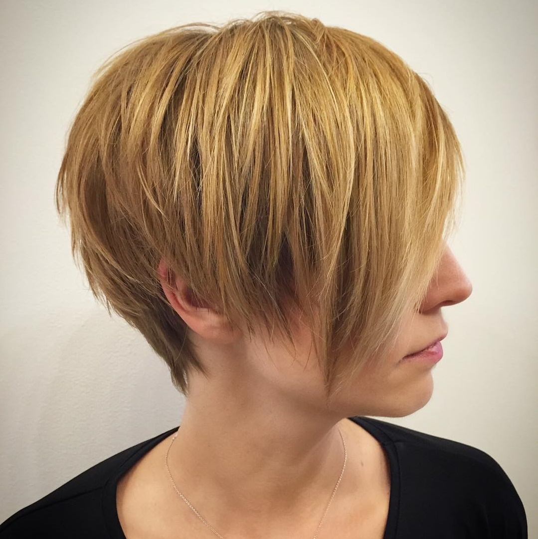 Simple Straight Pixie with Long Layers