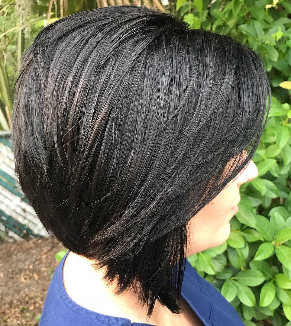 Black Bob with Swoopy Bangs