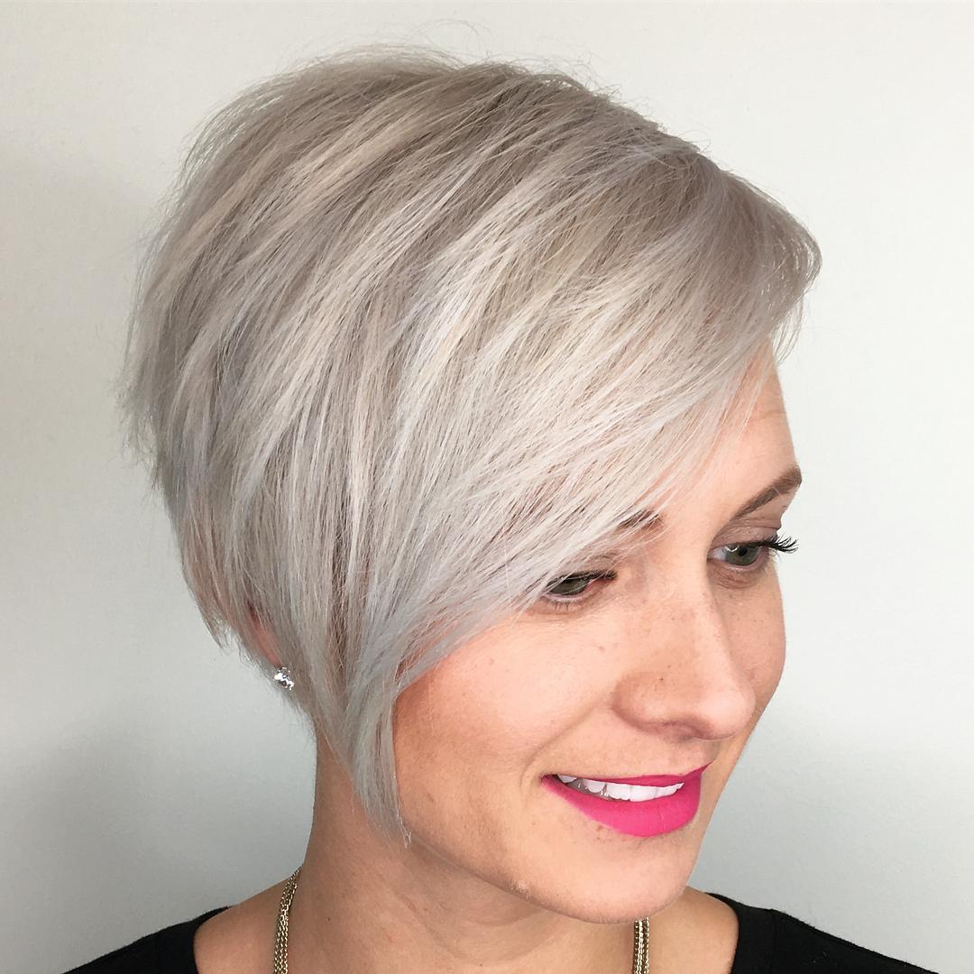 Textured Platinum Pixie Cut