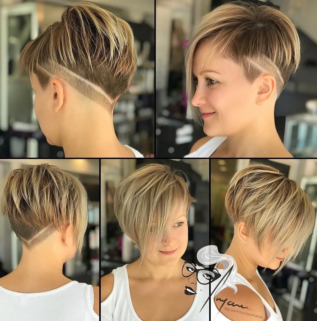 Undercut Pixie with V-Cut Nape