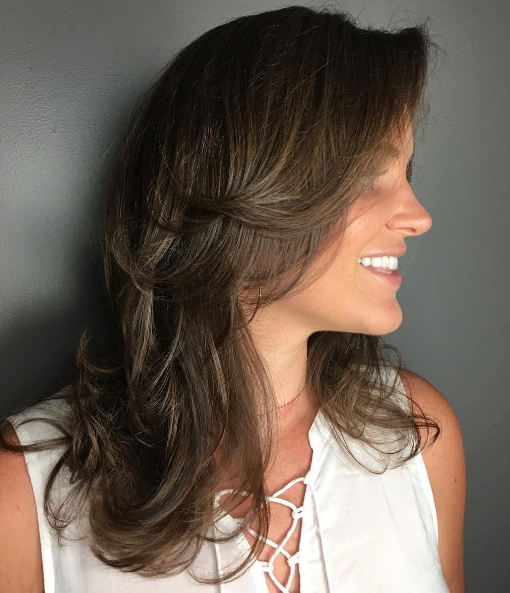 Shoulder Length Layered Haircut for Thin Hair