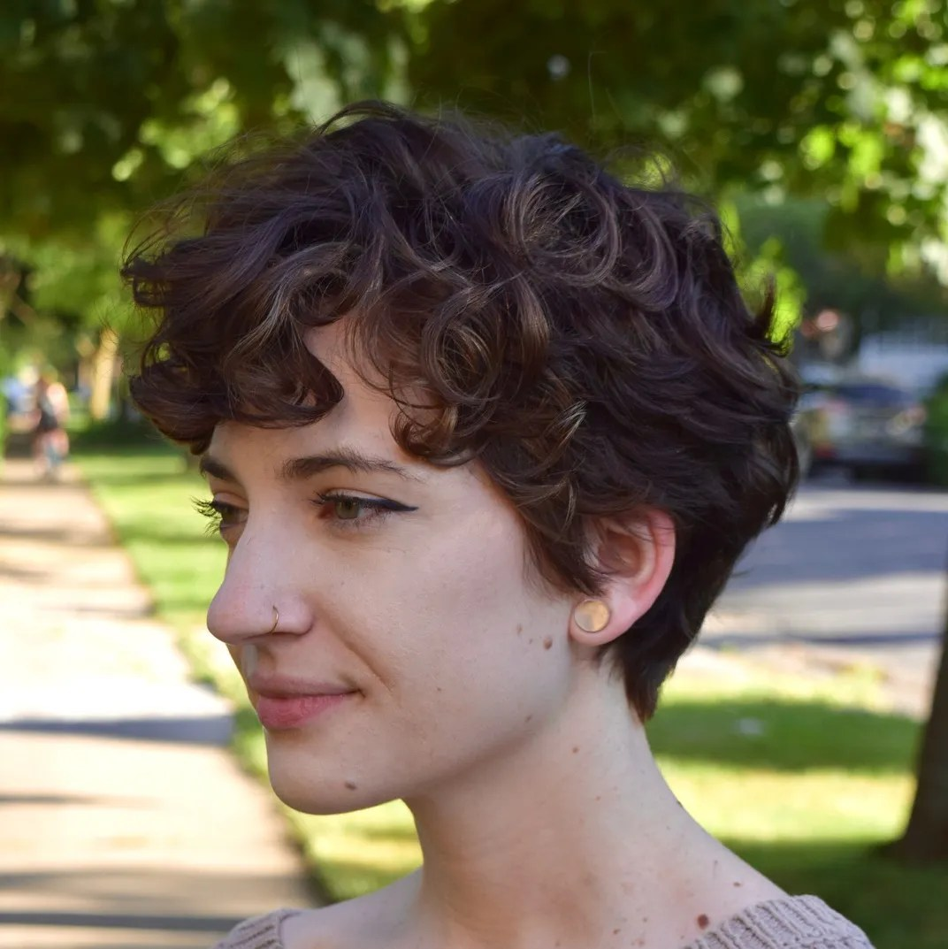 Low Maintenance Pixie for Wavy Hair