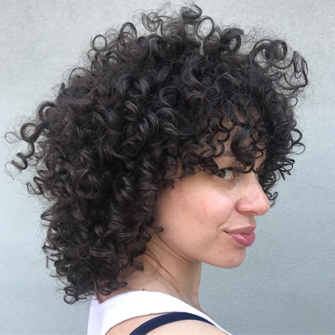 Medium Layered Curly Haircut for Natural Hair