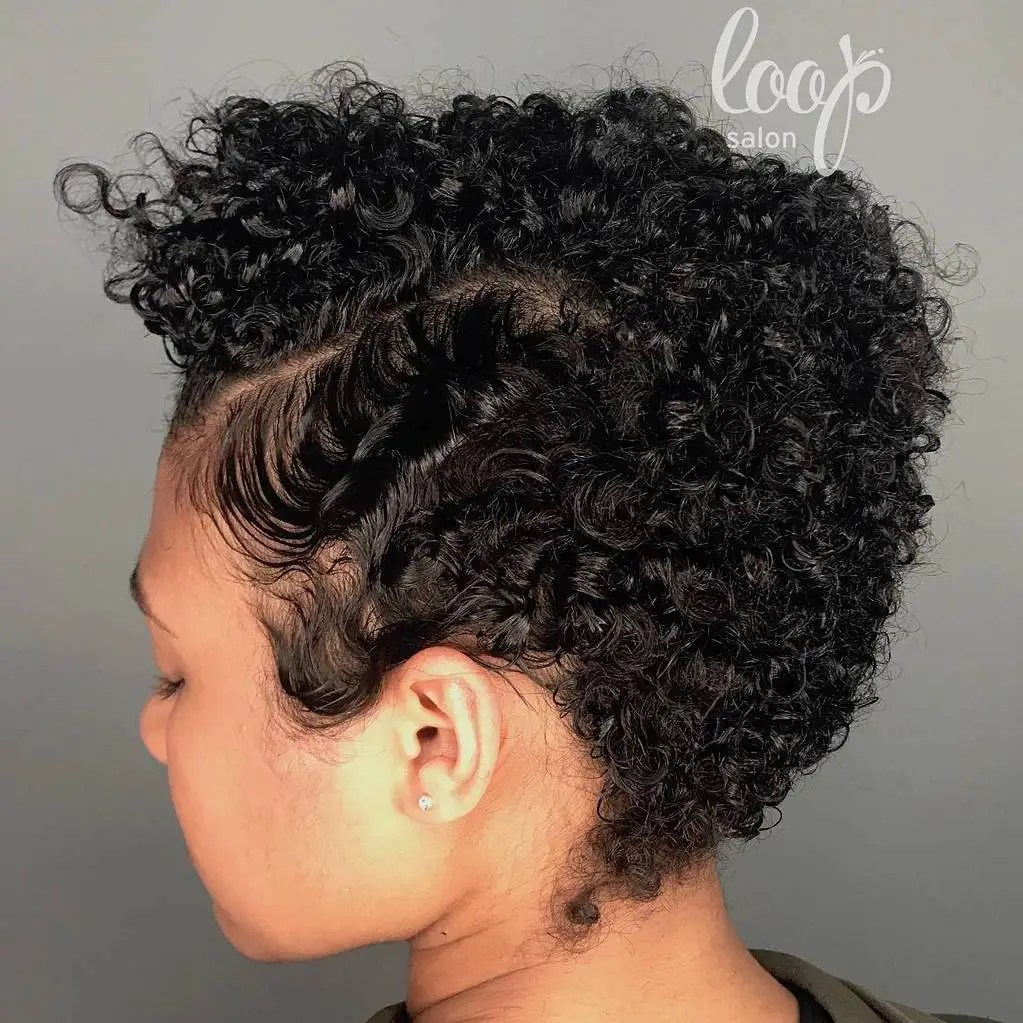 Short Curly Tapered Hairstyle