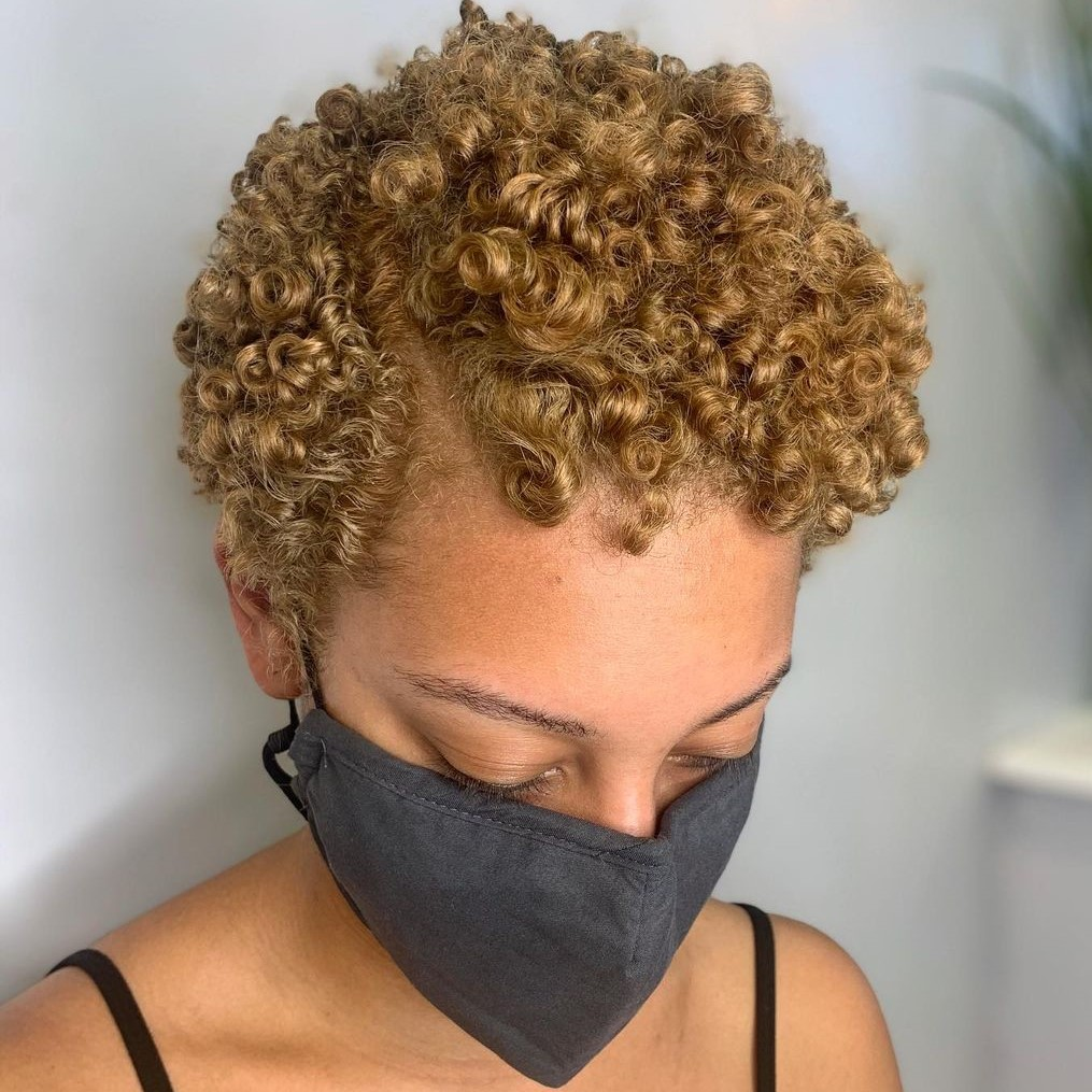 Short Light Brown Natural Hairstyle