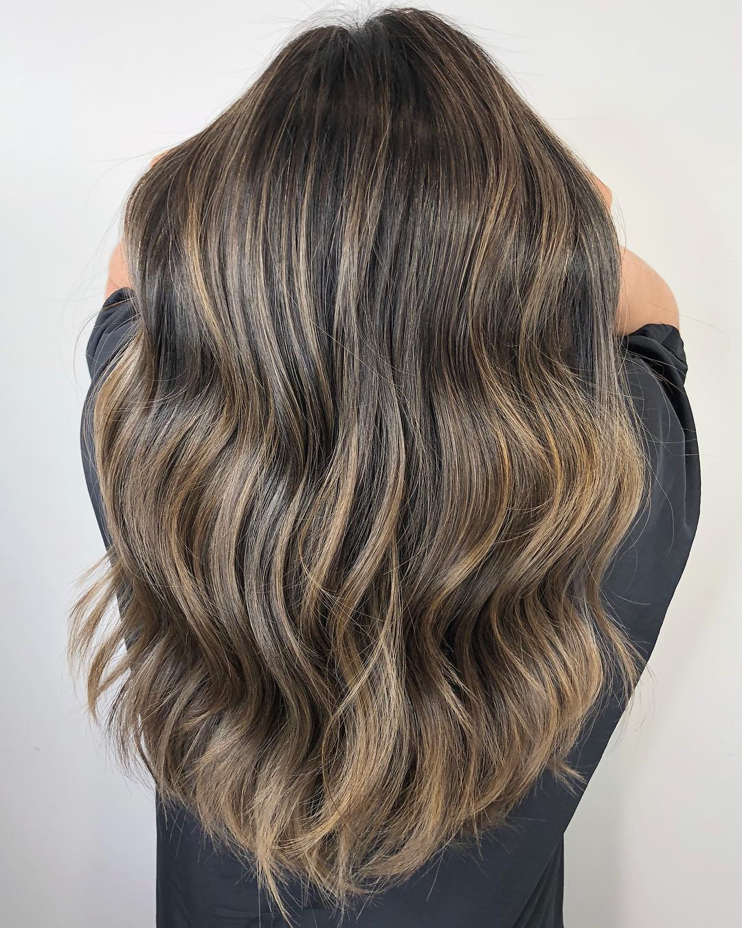 Full Silver Highlights for Brown Hair