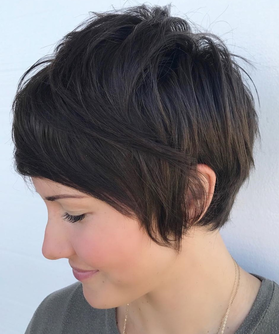 Long Layered Pixie for Straight Hair