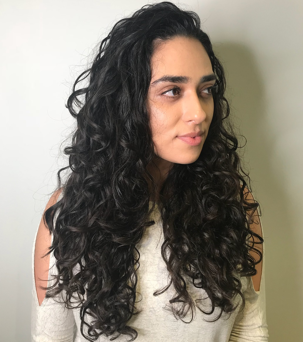 Long Layered Boho Curls