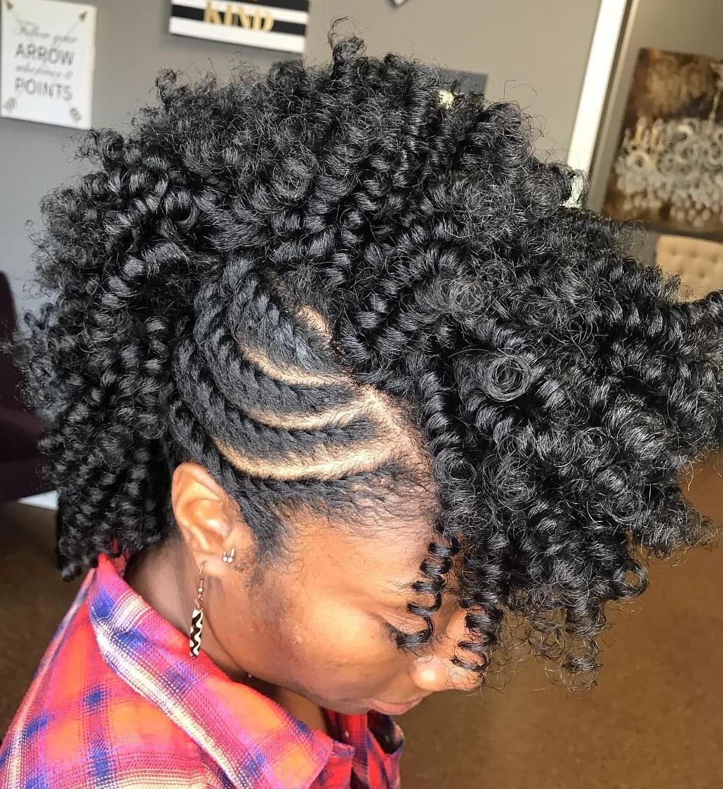 Twist out Curls with Twisted Side