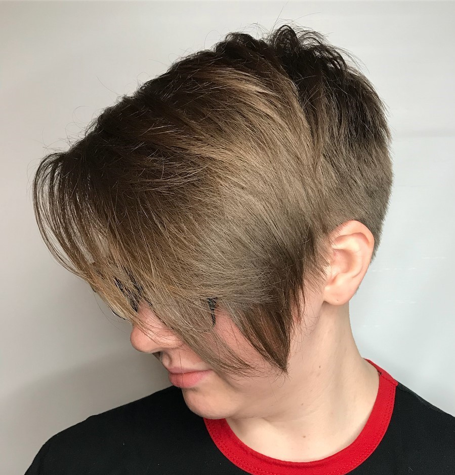 Undercut Pixie with Long Layers