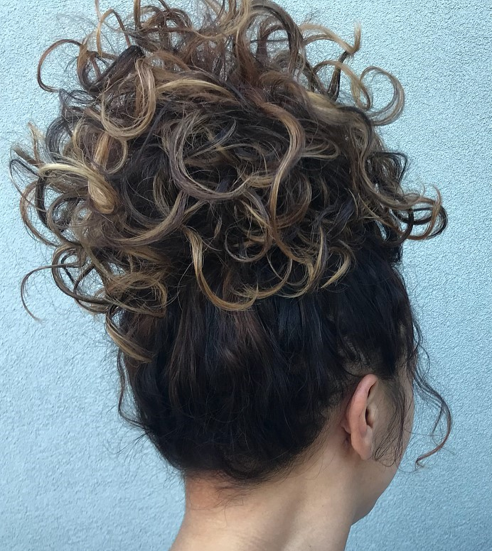 Big Bun Updo for Natural Curls