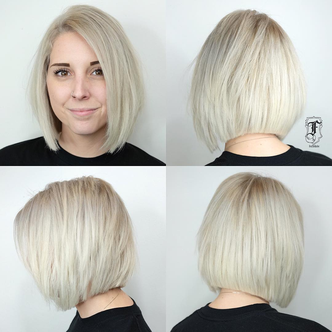 Cool Blonde Medium Blunt Bob