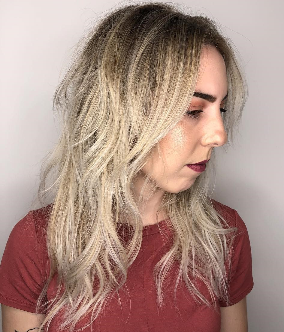 Long Blonde Shag for Fine Hair
