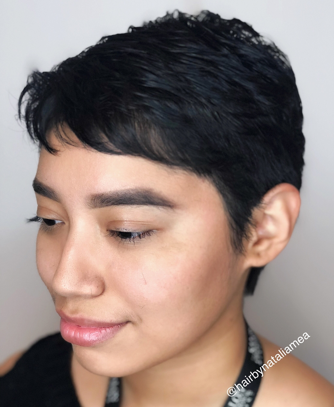 Ultra Short Crop with Bangs