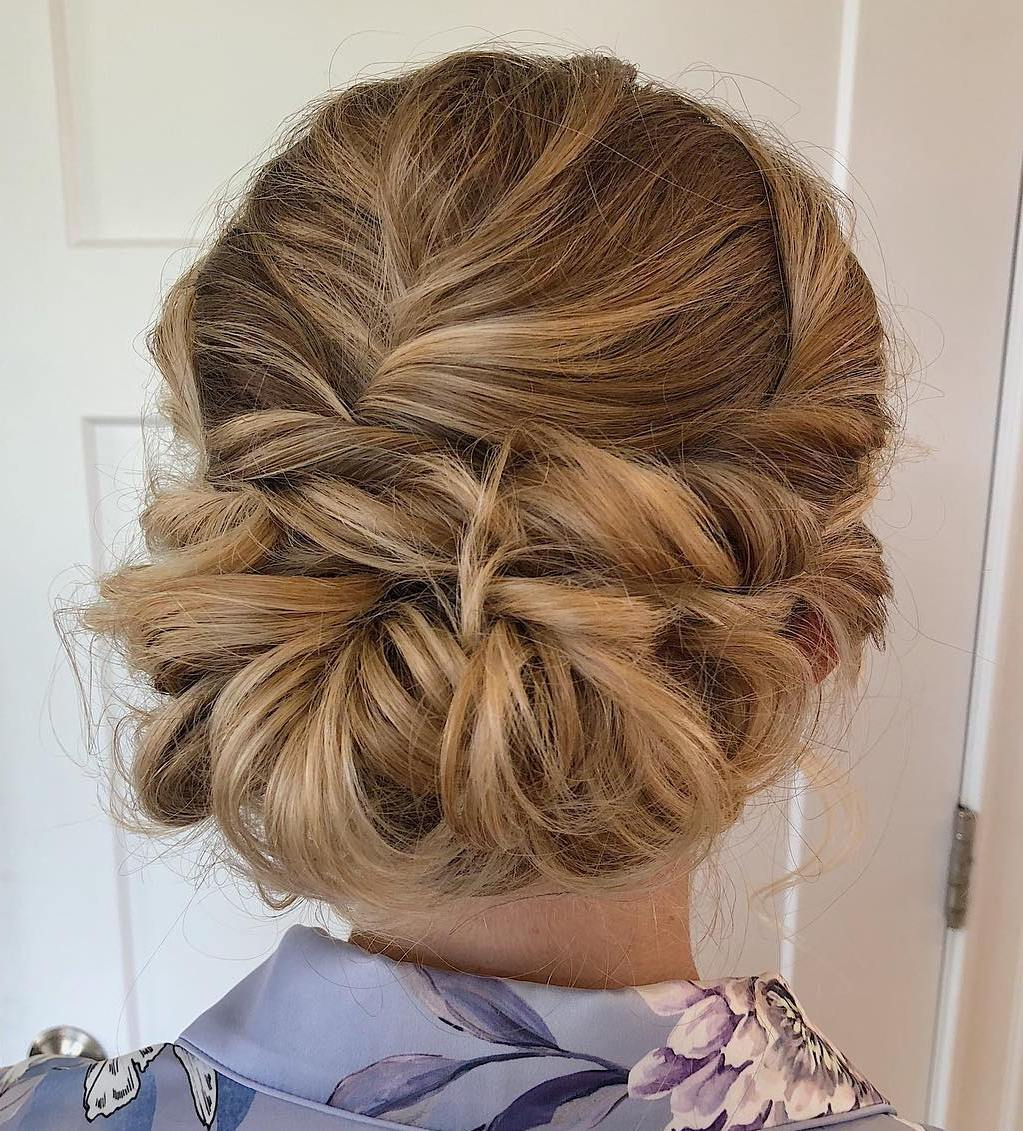 Cute Twisted Bridesmaid Updo
