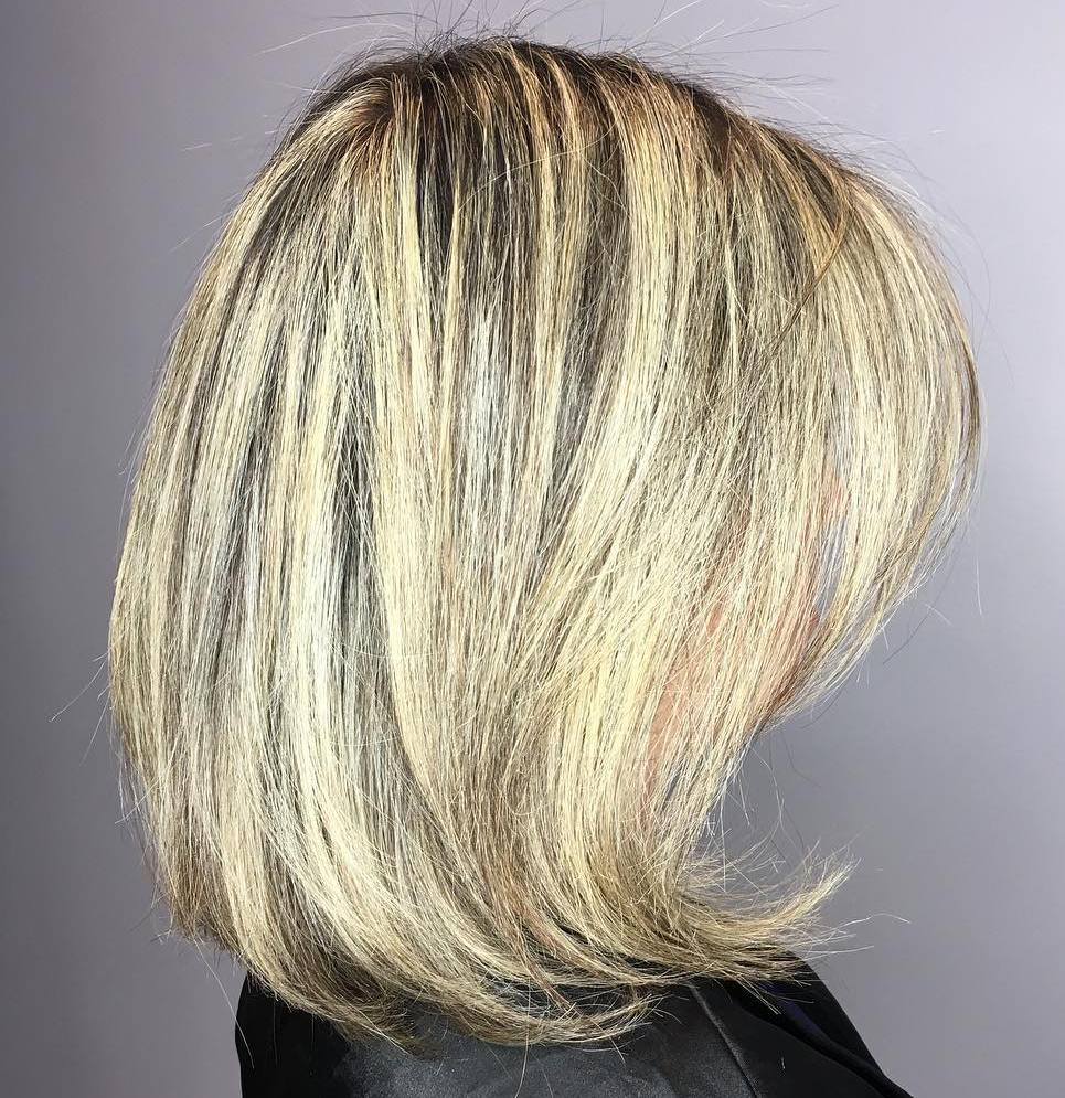 Medium Haircut with Flipped Ends