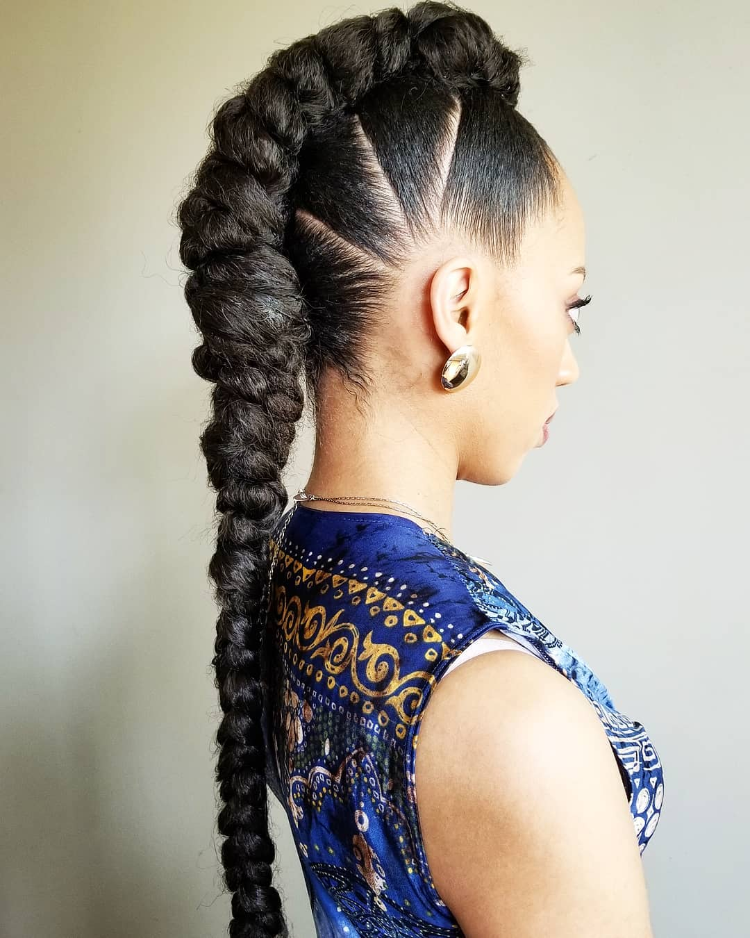 Long Mohawk Braid