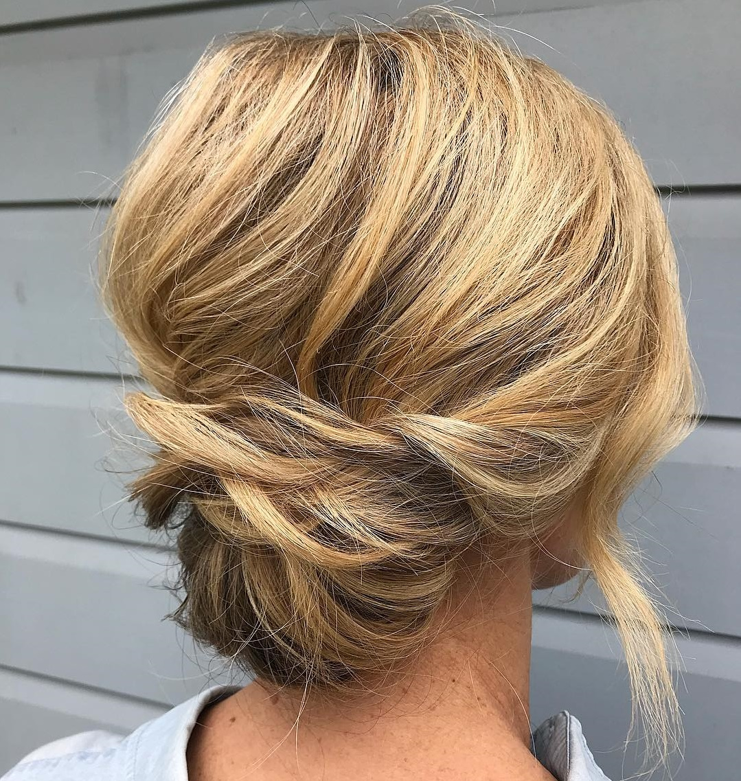 Pretty Effortless Low Updo