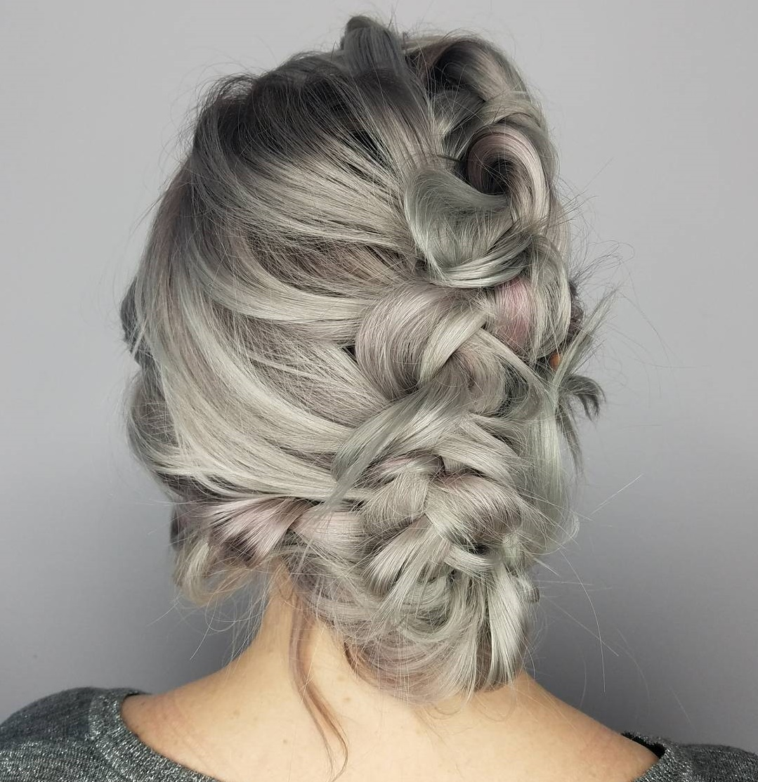 Loose Braided Mermaid Updo