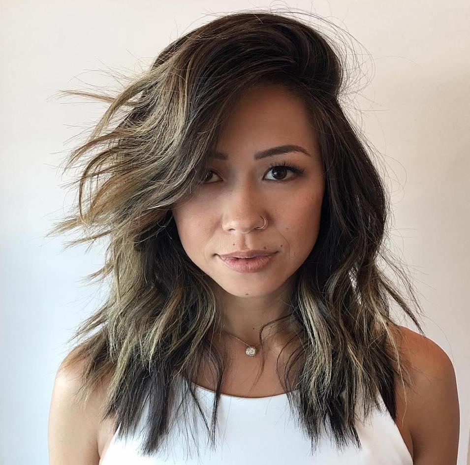Shoulder-Length Choppy Cut