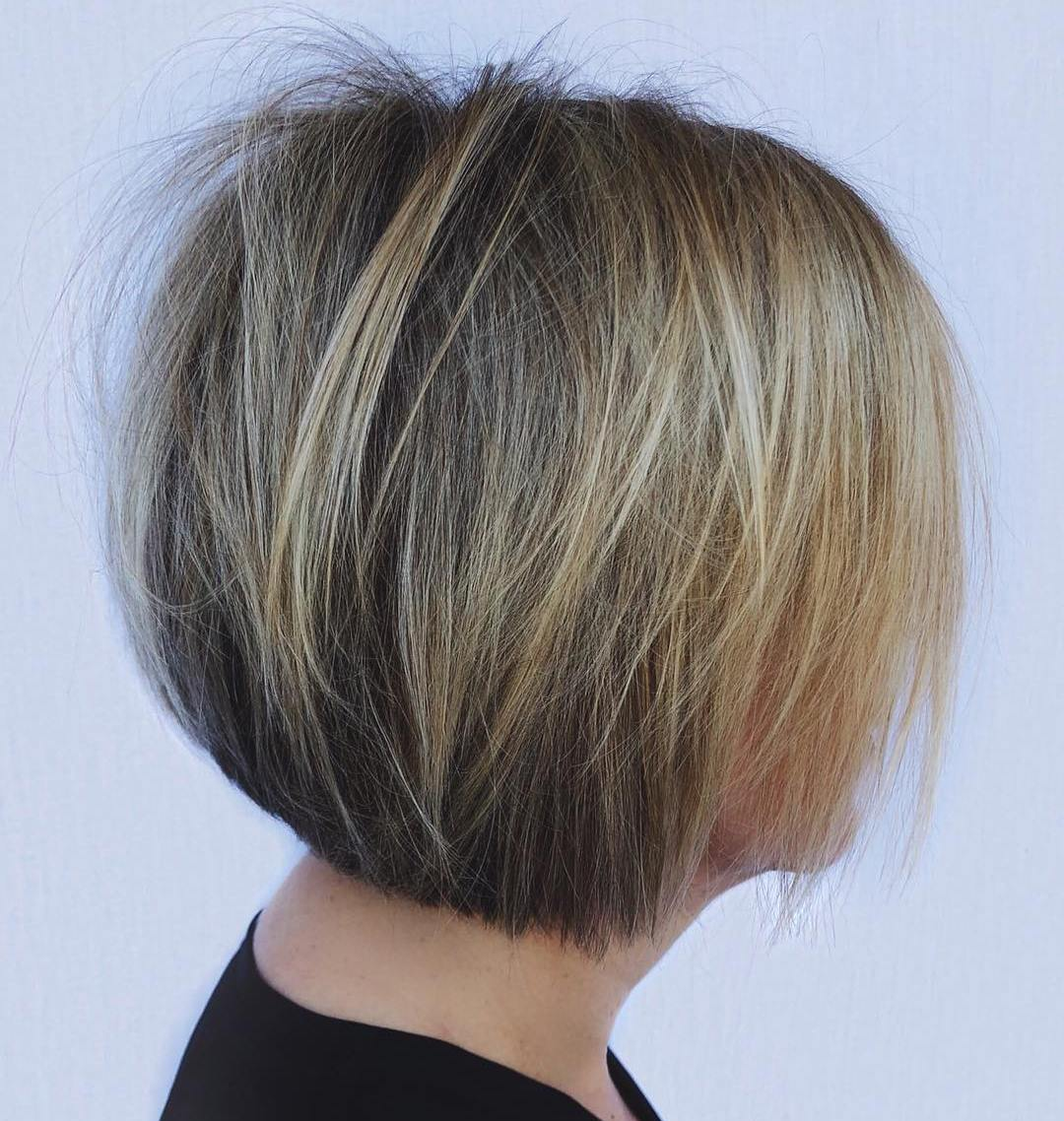 Cute Blonde Balayage Bob