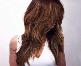 Long Chocolate Shag with Auburn Highlights